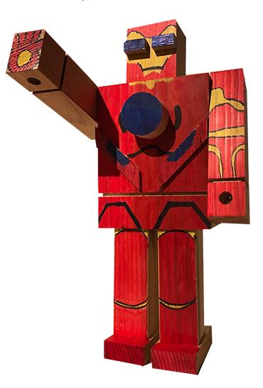 2019年 粋工房の夏祭り 木のロボット作り体験